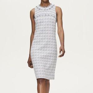 Karl Lagerfeld Paris Fray Detail Tweed Dress